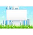 Empty billboard in the grass vector