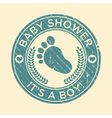 Baby shower feet rubber stamp vector