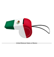 A whistle of the united mexican states vector