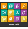 Shopping icons flat vector