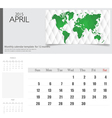 Simple 2015 calendar april vector