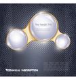 Three glass balls vector