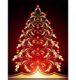 Christmas golden vector
