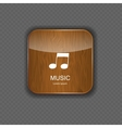 Music wood application icons vector