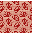 Red seamless floral pattern vector