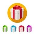 Present boxes set flat design vector