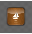 Sea wood application icons vector