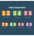 Countdown mechanical clock vector