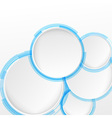 Bright blue circle design elements vector