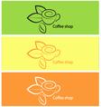 Coffee shop logo design elements vector