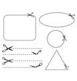 Scissors cut lines vector