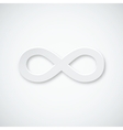 Infinity paper icon vector