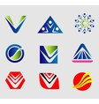 Sign abctract logo set vector