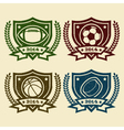 Sport emblem rubber stamps vector