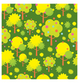Tree object icons seamless pattern vector