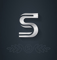 Elegant silver font letter s template for company vector