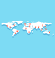 World map with big cities vector