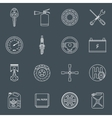 Car parts icons outline vector