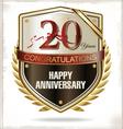 20 years anniversary label vector