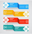 Simple abstract infographics options banner vector