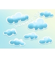 Clouds on summer sky vector