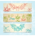 Christmas banners horizontal vector