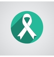 Breast cancer awareness white ribbon on white vector