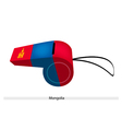 Red and blue whistle of mongolia flag vector