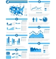 Infographic demographics of states of america blue vector