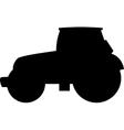 Black tractor silhouette vector