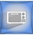 Microwave kitchen equipment flat modern web button vector