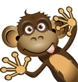 Funny monkey vector