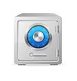 Metal safe icon security concept vector