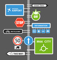 Different road signs vector