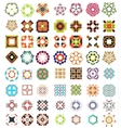 Set of abstract geometric icons  shapes vector