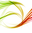 Bright fresh swoosh lines abstraction vector