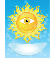 Sun with eye vector