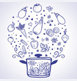 Vegetable ragout vector