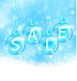 Christmas background with balls lettering sale vector