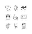 Black icons for resuscitation vector