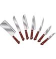 Set of knives vector
