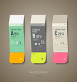 Colorful origami label paper cut price tag collect vector