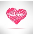 Hand written with pencil simple childish heart vector
