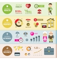 Insurance infographic banners vector