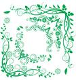 Floral corners vector
