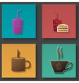 Set of icons for food and drink vector