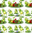 Seamless frog vector