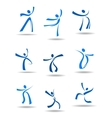 Dancing people icons vector