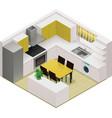 Isometric kitchen icon vector