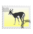Gazelle stamp vector